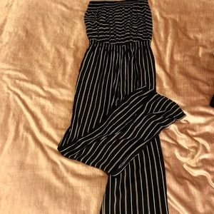 Black and White Strapless Jumpsuit NWT